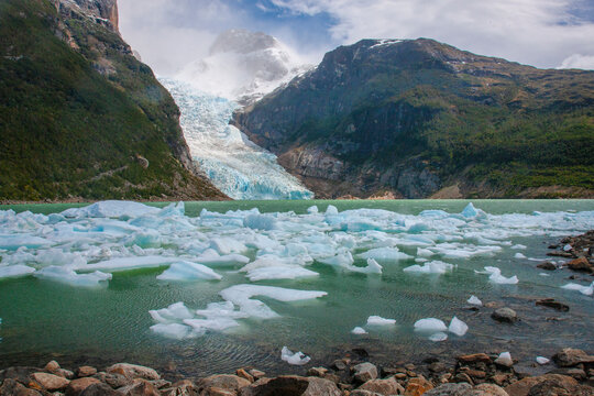 The Serrano glacier is one of the biggest attractions within the Parc Nacional Bernardo O' Higgins on Patagonian Chile