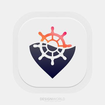 Marine vector logo design idea.