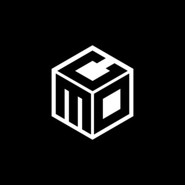 MDC letter logo design with black background in illustrator, cube logo, vector logo, modern alphabet font overlap style. calligraphy designs for logo, Poster, Invitation, etc.