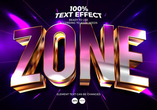 Zone Editable Text Effect