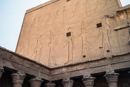 Edfu Temple - Northern Facade of the East Wing of the Great Pylon