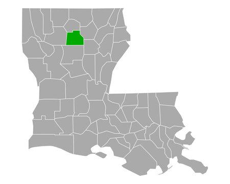 Karte von Jackson in Louisiana