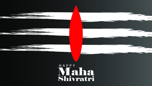 Vector illustration of Maha Shivratri. Grunge texture Mahadev silhouette. Greeting card for Hindu festival Mahashivratri.