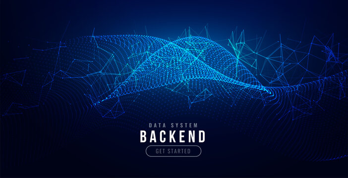 technology digital background with network mesh