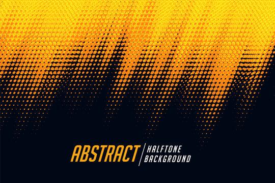 yellow and black diagonal halftone background