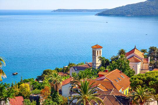 Landscape with Herceg Novi in Montenegro