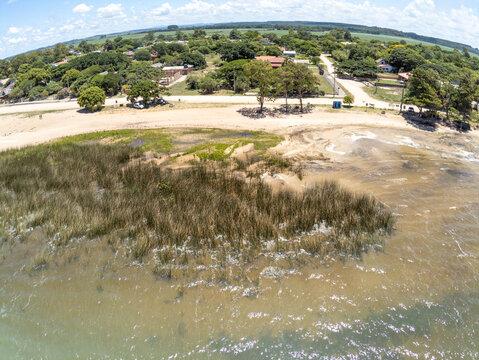 Aerial view of a Beach in Lagoa do Patos lake