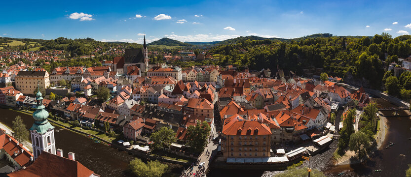 Czech krumlov stunningly beautiful town with state castle in southern Bohemia czech republic listed UNESCO