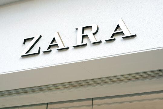 Logo Zara Retail Store Exterior.Zara clothing store shop