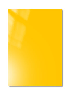 Yellow Booklet cover template on white background