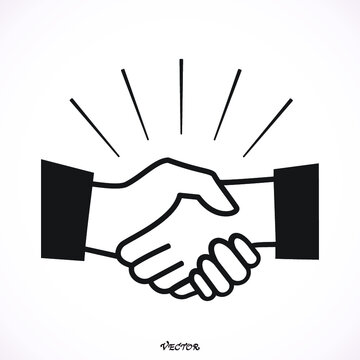Icon Handshake Symbol. Designed for web and software interfaces.