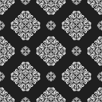 Orient classic pattern. Seamless abstract background with vintage elements. Orient black and white background. Ornament for wallpaper and packaging