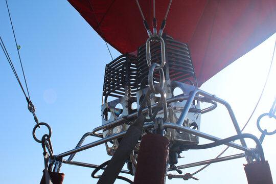 熱気球のガスバーナーのアップ | 秋田県横手市