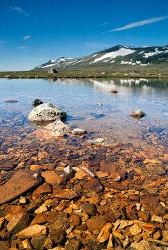 Rocks in lake Sjodalsvatnet