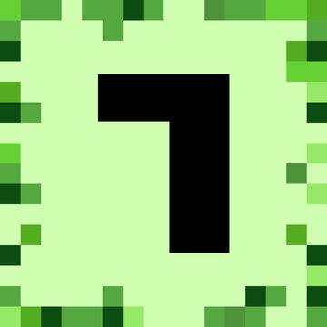 number 7 pixel block
