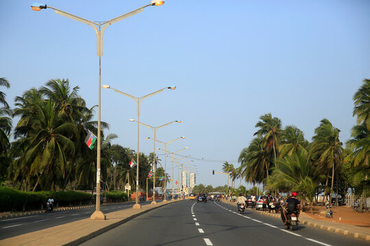 Lome. Boulevard du Mono.  Lome. Togo. 25.02.2015