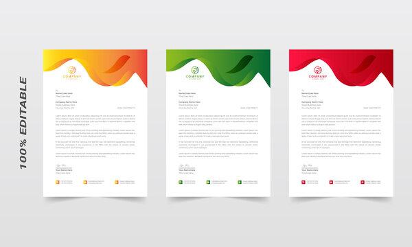 Abstract letterhead design template. modern business letterhead design template, business letterhead, letterhead template, simple letterhead, corporate letterhead, flyer layout