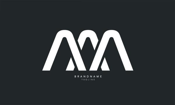 Alphabet letters Initials Monogram logo AMA, AM, MA