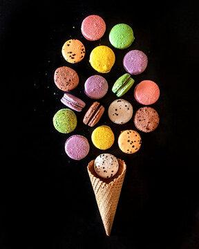 Macaron bouquet