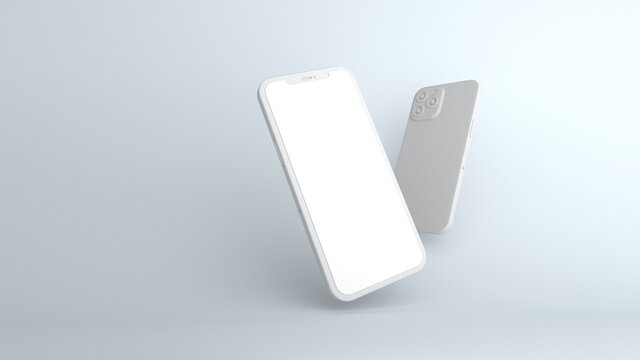 white iPhone 12 3d modeling