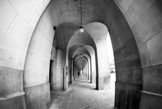 Perspective Line of Tunnel of Central Library Building in Manchester