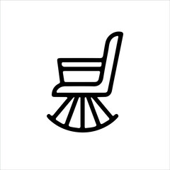 Fototapeta chair icon isolated on white background from furniture collection. chair icon trendy and modern chair symbol for logo, web, app, UI. chair icon simple sign. chair icon flat vector illustration for gra obraz