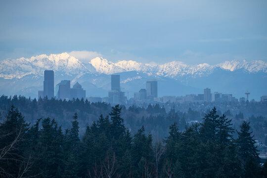 Seattle Cloudy  Skyline