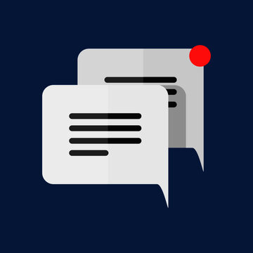 a simply designed conversation icon for the means of a messaging app icon