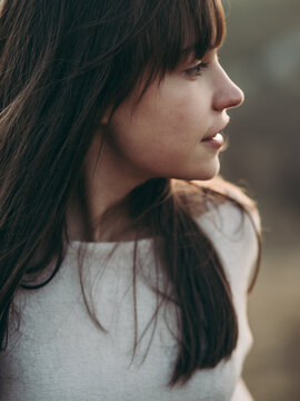 portrait of a teenager girl outdoor