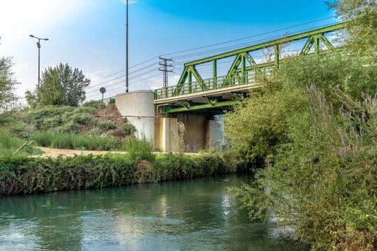 the green yosef bridge on the jordan river