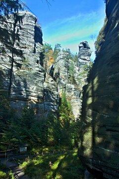Czech Republic-view of rocks in the Teplice Rocks