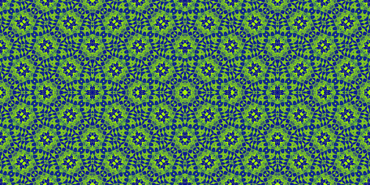 Colored African fabric - Seamless and textured pattern, illustration