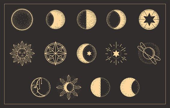 moon phases set