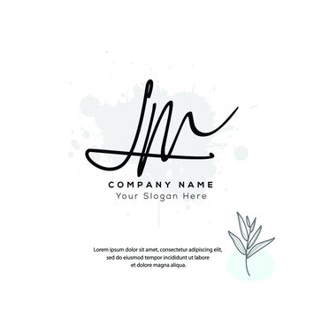 L M LM Initial letter handwriting and signature logo. Beauty vector initial logo .Fashion, boutique, floral and botanical