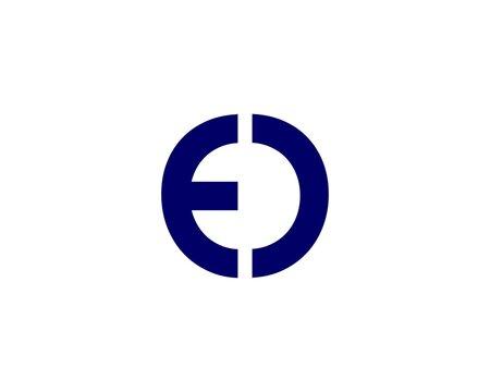 E OE EO letter logo design vector template
