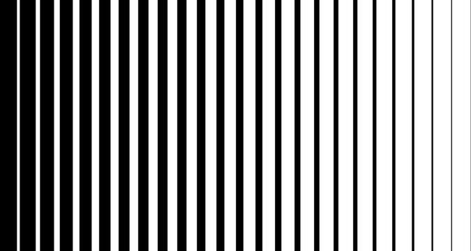 Black line halftone pattern texture. Vector black radial striped background for retro, graphic effect. Monochrome stripe texture.