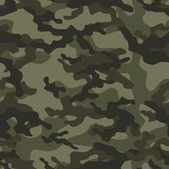 Fototapeta army camouflage vector seamless pattern