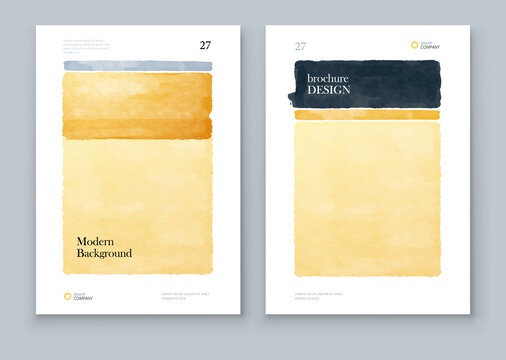 Abstract Hand Painted Illustrations for Wall Decoration, Postcard, Brochure template layout design. Corporate business annual report, catalog, magazine, brochure, flyer mockup
