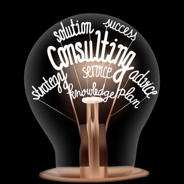 Light Bulb with Consulting Concept