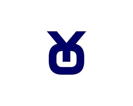 Y OY YO letter logo design vector template
