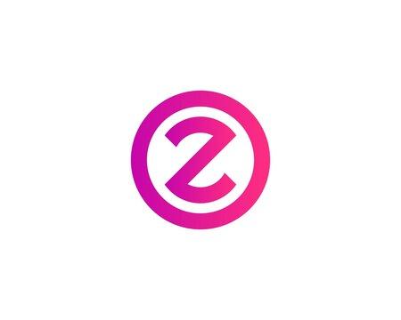 Z OZ ZO Letter logo design vector template