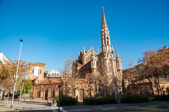 Church of St.Francis de Sales built: 1882-1885 . Barcelona. Spain.