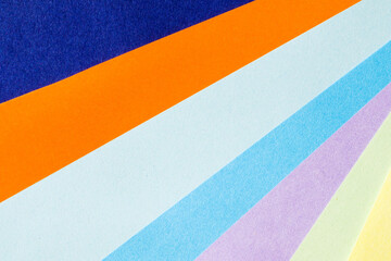 Colorful paper background, paper board and geometric figures, pastel colored