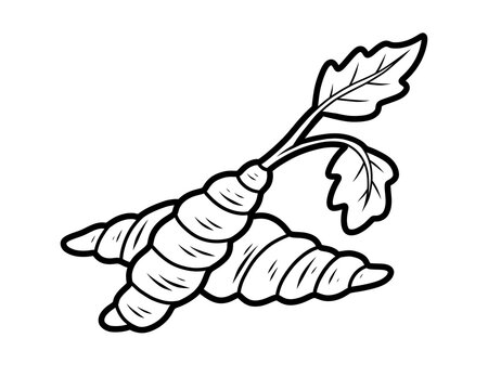 Coloring book for kids, Chinese artichoke