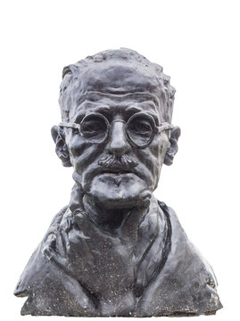 James Joyce bust. St Stephen Green, Dublin, Ireland