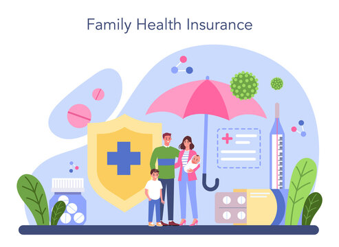 Health insurance concept. Idea of security and protection of property