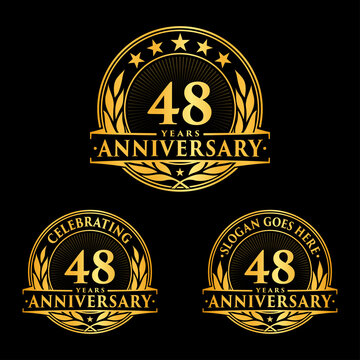 48 years anniversary collection logotype. Vector and illustration.