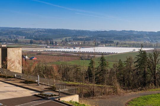 Willamette Valley nursery landscape Oregon state.