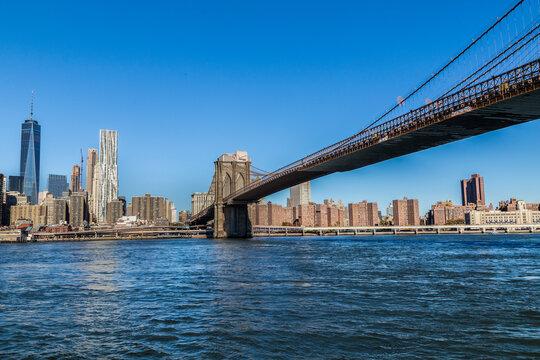 Brooklyn bridge in late afternoon sun