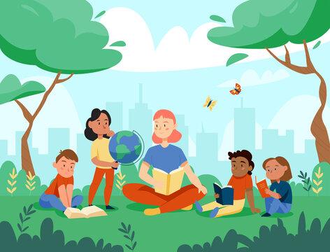 Nature Study Globe Composition